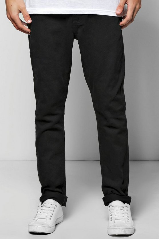 Slim Fit Black Denim Jeans In 11oz
