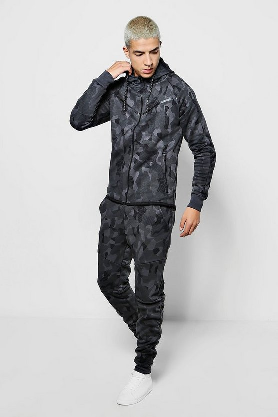 Skinny Camo Hooded Tracksuit