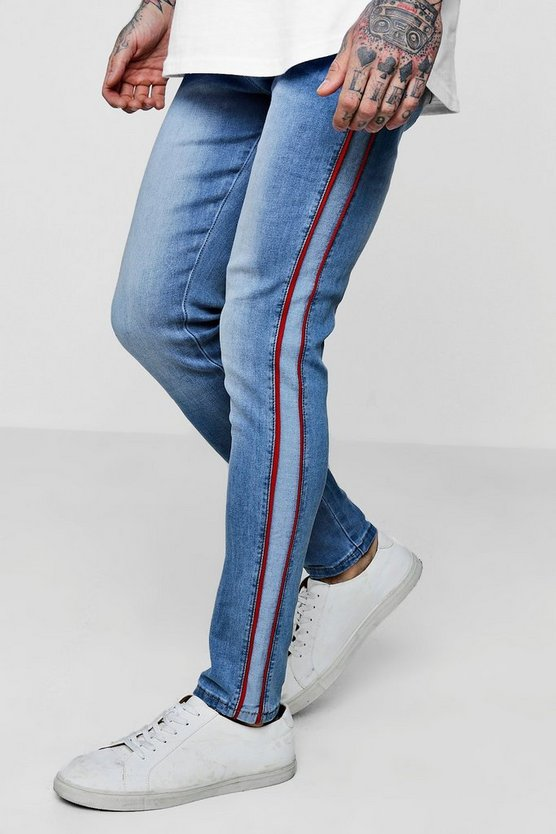 Super Skinny Jeans with Piped Side Panel