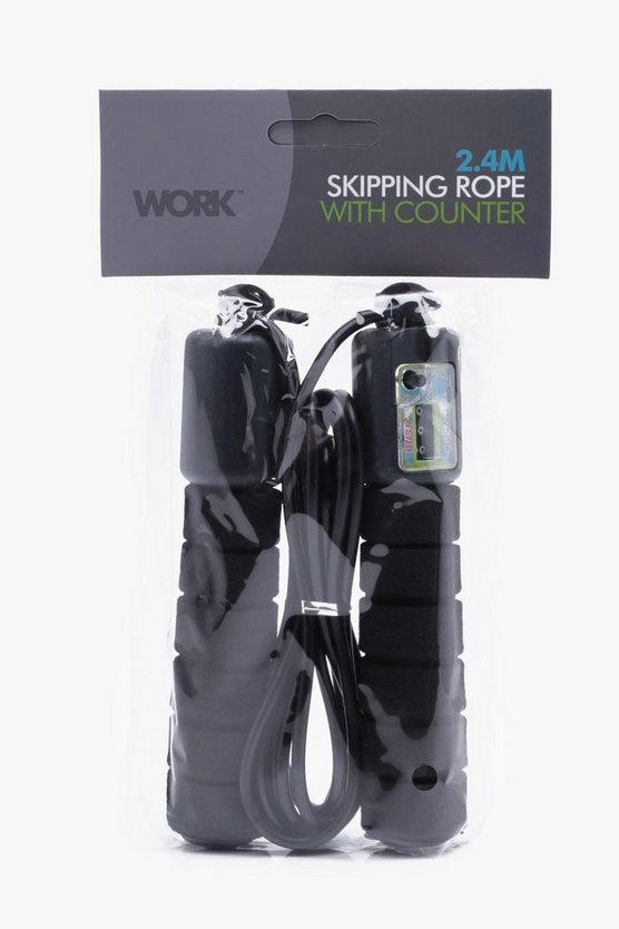 Skipping Rope With Counter Black