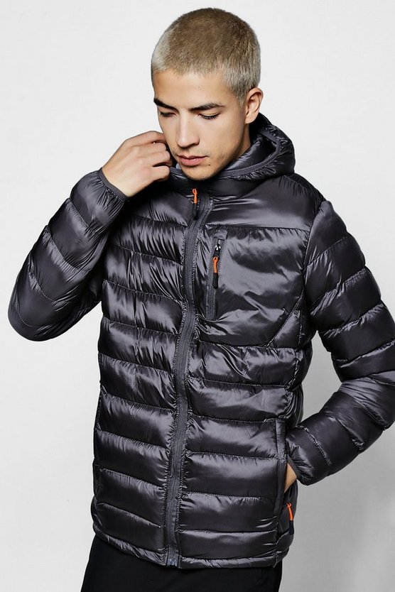 Quilted Pannelled Puffer Jacket