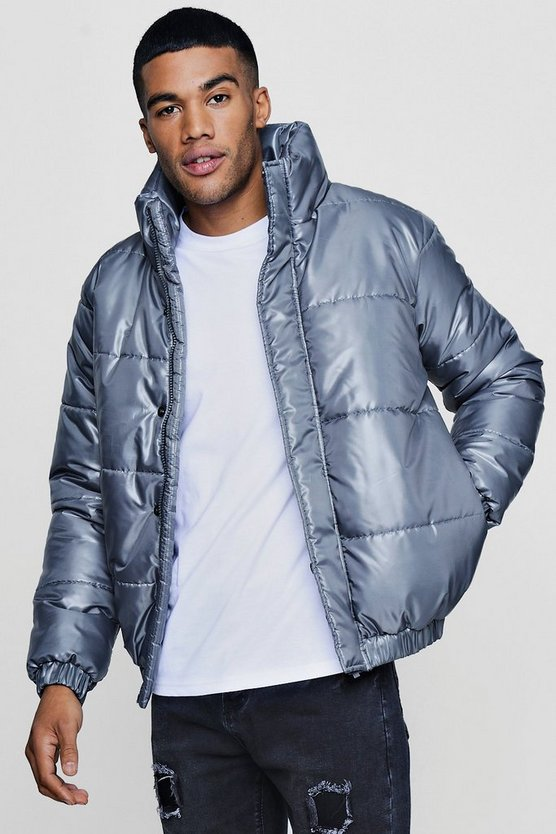 Funnel Neck Padded Puffer Jacket