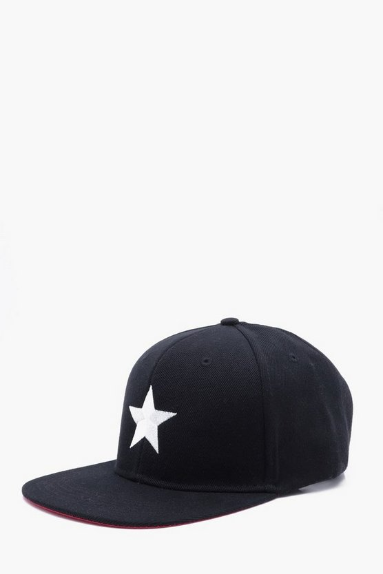 Star Embroidered Snap Back