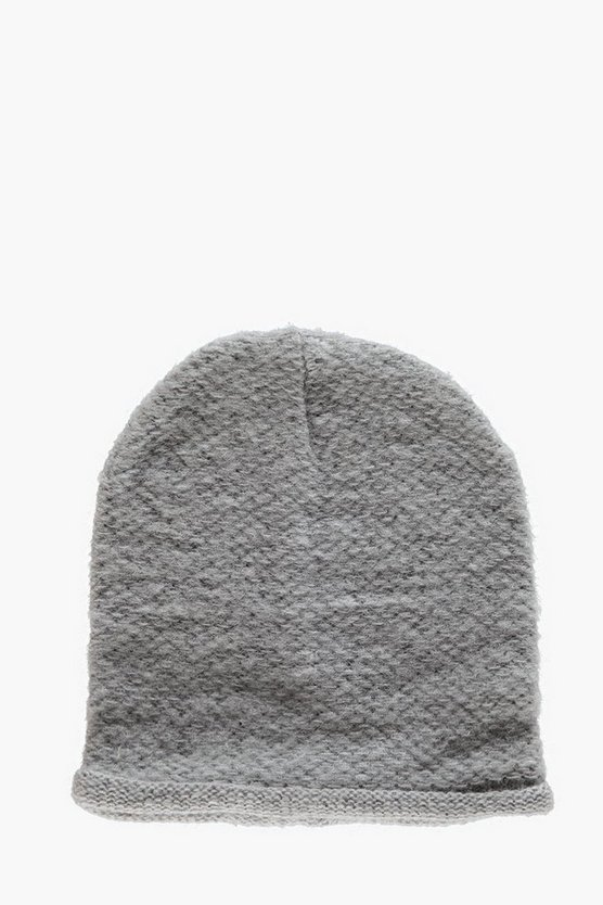 Textured Knitted Beanie