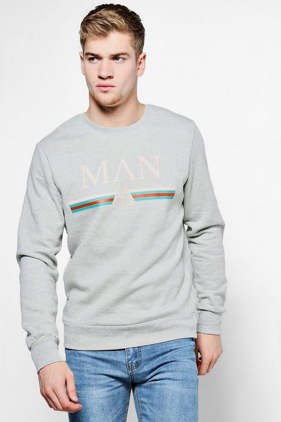 MAN Retro Multi Stripe Sweater
