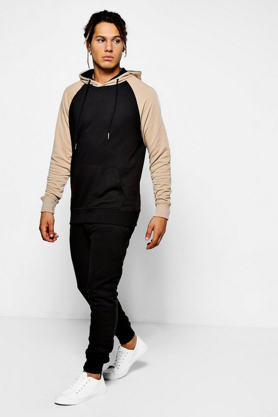 Skinny Fit Raglan Hooded Tracksuit