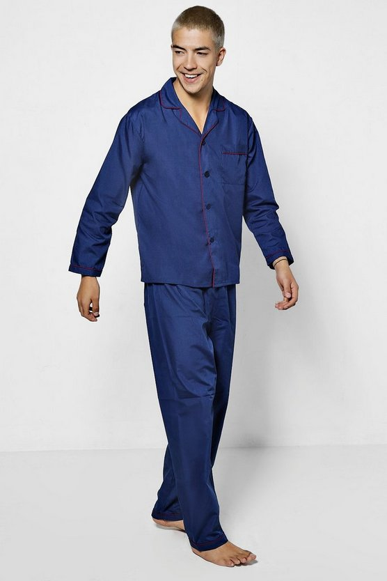 Classic Pyjama's With Contrast Trim