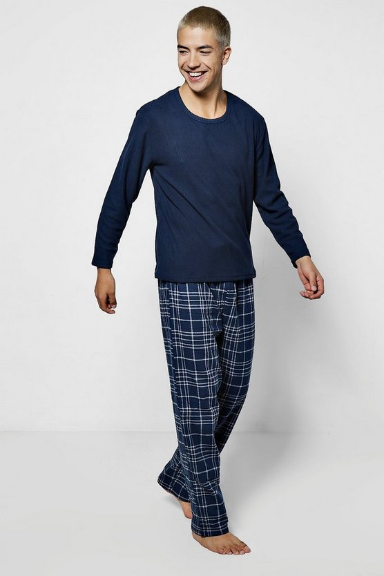 Check Fleece Pyjama Set
