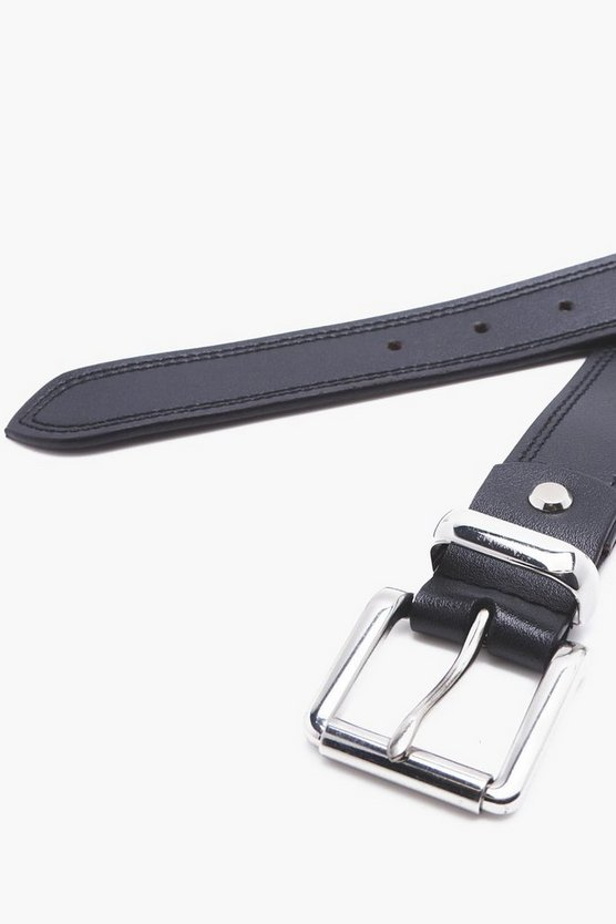 Black Real Leather Belt