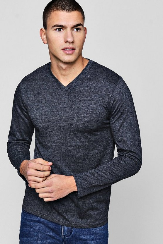 Long Sleeve V-Neck T-Shirt