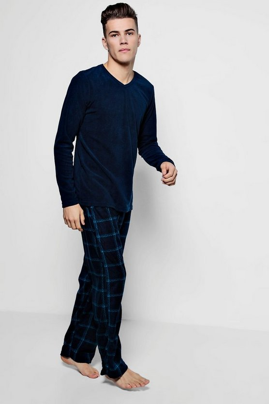 Long Sleeve Fleece Pyjama Set