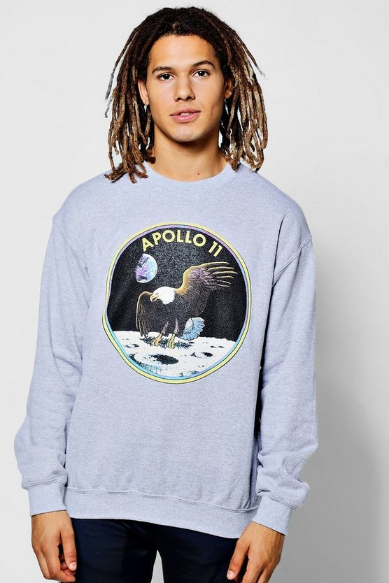 NASA Apollo Print Crew Neck Sweater