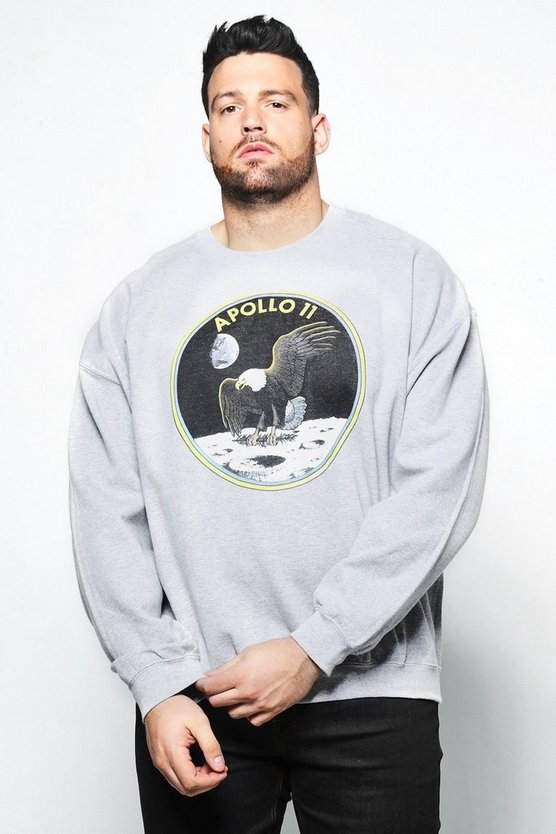 Big And Tall NASA Apollo Sweatshirt