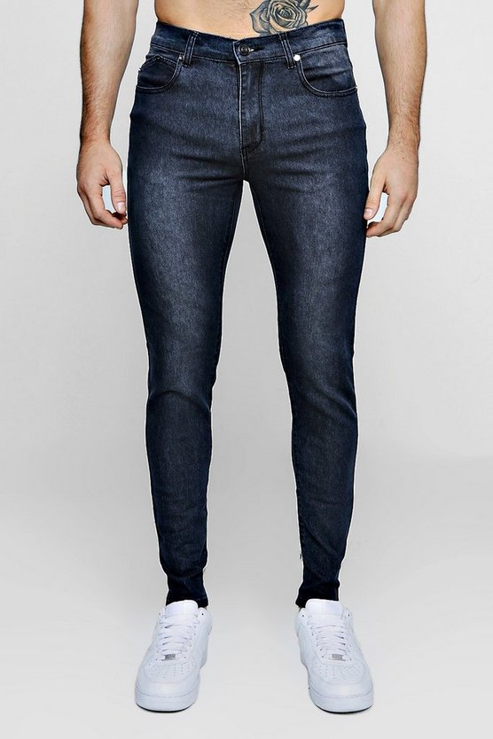 Super Skinny Stretch Denim Charcoal Jeans