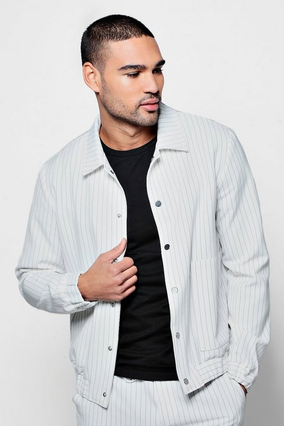Pinstripe Woven Bomber Co-ord
