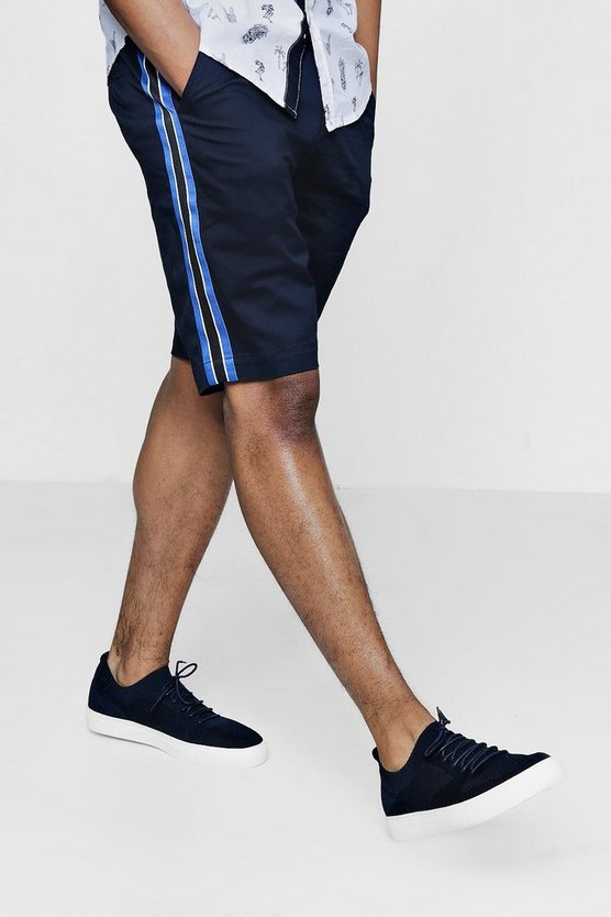 Chino Short With Striped Side Panel