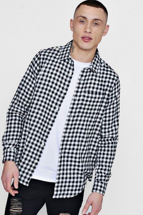 Checkerboard Flannel Shirt