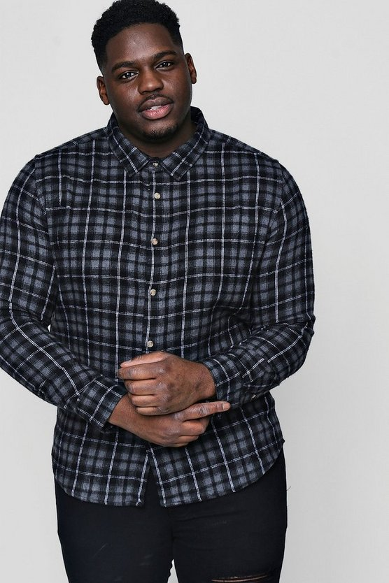 Big And Tall Large Check Flannel Shirt