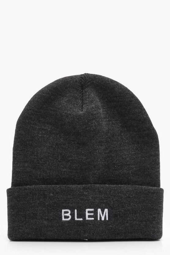 Slogan Turn Up Beanie
