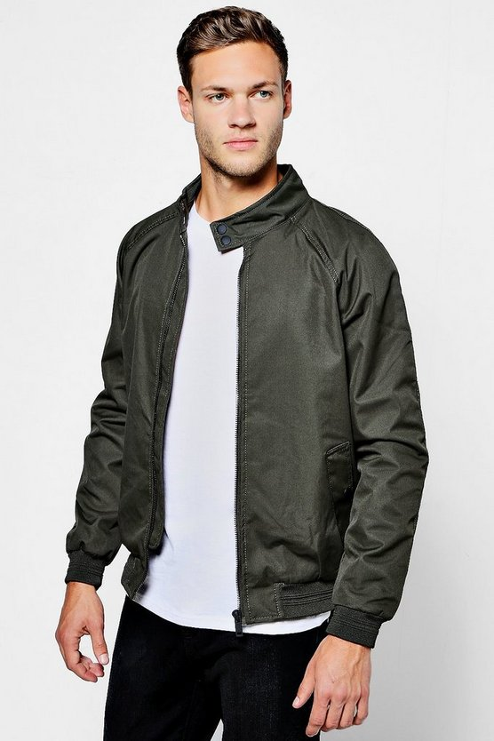 Raglan Harrington Jacket