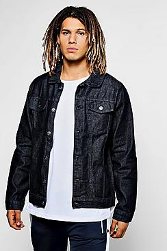 Raw Indigo Denim Western Jacket