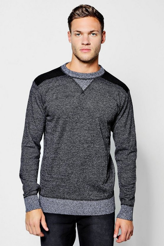 Contrast Yoke Knitted Jumper