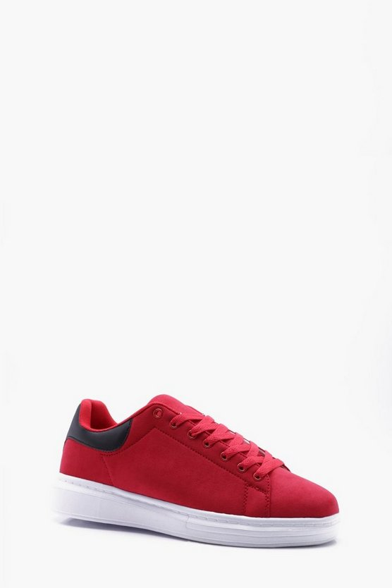 Chunky Sole Faux Suede Trainers