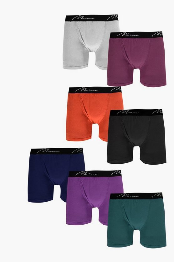 7 Pack Mixed Colour MAN Trunks