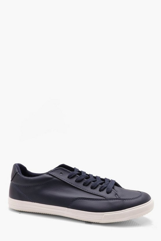 PU Lace Up Plimsole