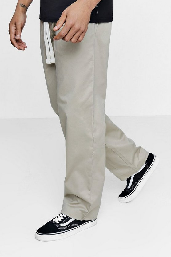 Wide Leg Chino with Drawcord