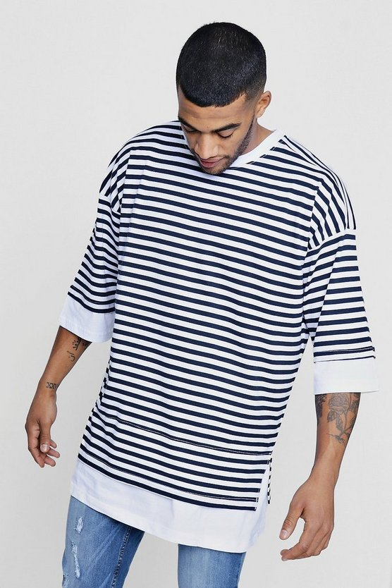 Faux Layer Stripe T-Shirt