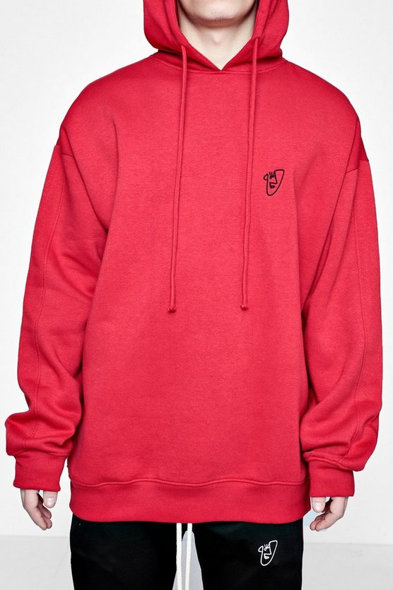 TYGA Embroidered Oversized Hoodie