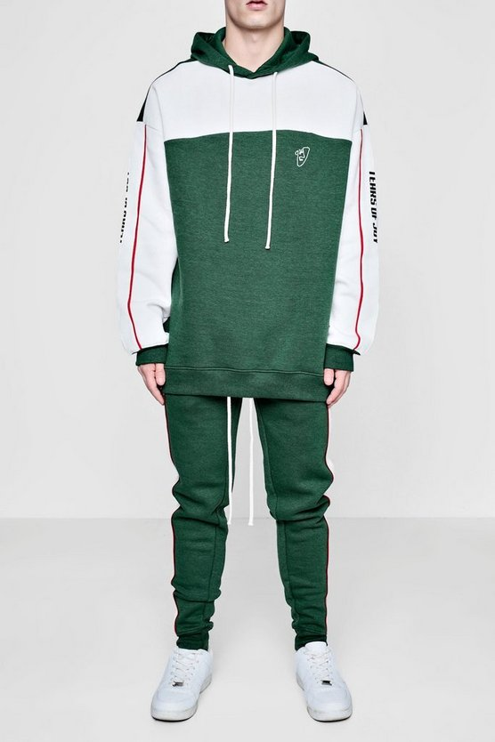 TYGA Oversized Tears Pipe Tracksuit
