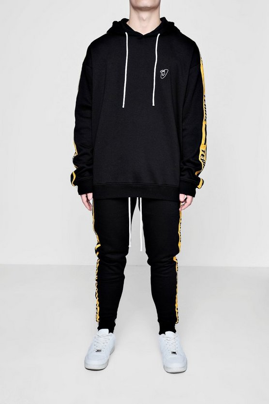 Oversized Sport Tracksuit with Taping