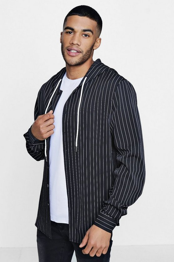 TYGA Hooded Stripe Shirt