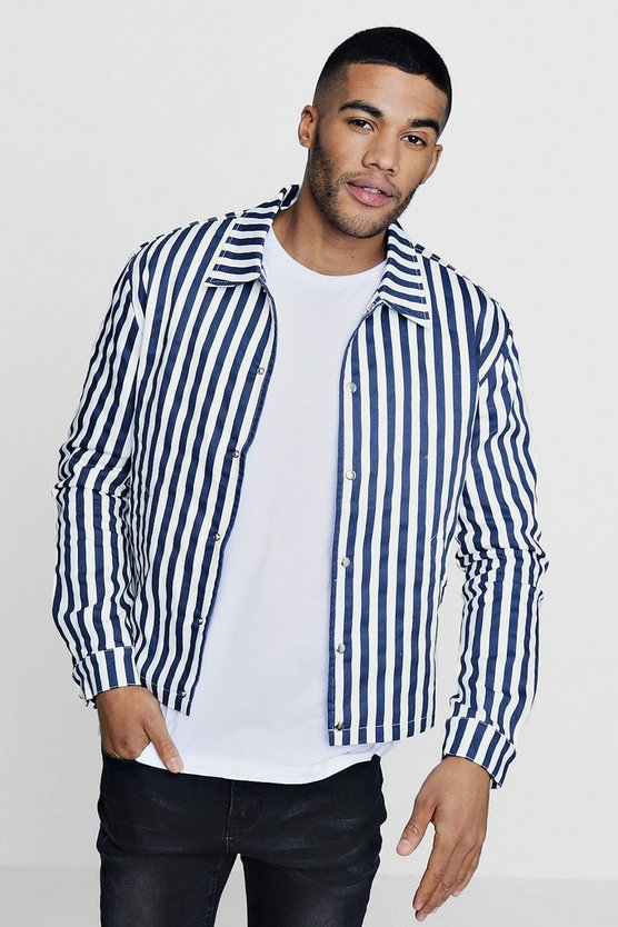 Striped Coach Jacket