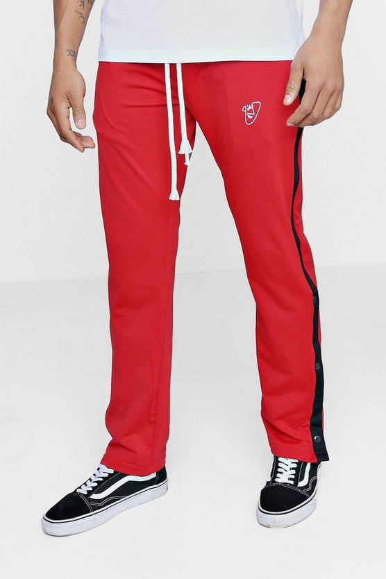 TYGA Regular Fit Tricot Joggers with Poppers