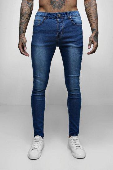 Blue Wash Spray On Skinny Jeans