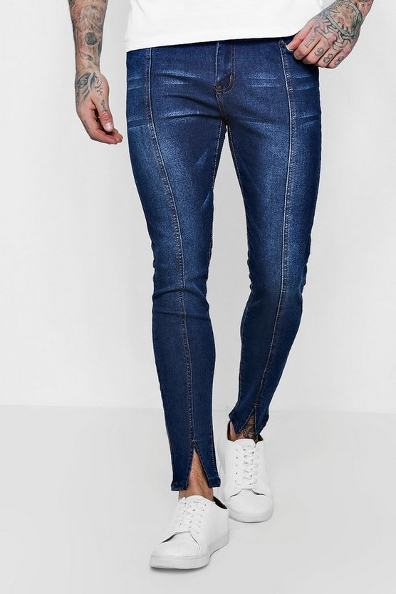 Super Skinny Fit Jeans With Split Hem Detail