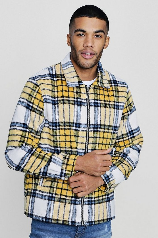 Brushed Check Harrington Jacket