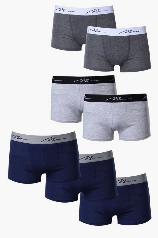 7 Pack MAN Trunks With Contrast Waist Band