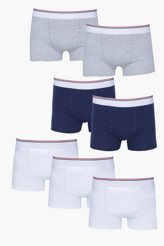 7 Pack Trunks With Sport Stripe Waist Band