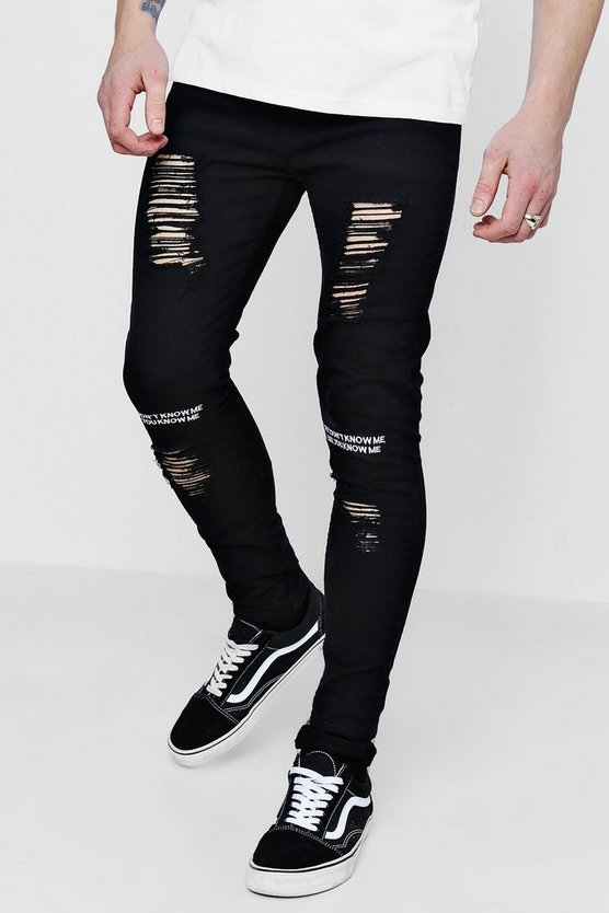 Super Skinny Jeans With Embroidery