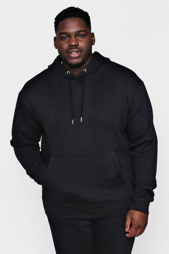 Big And Tall Basic Fleece Over The Head Hoodie