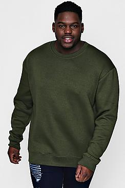 Big And Tall Basic Fleece Sweater