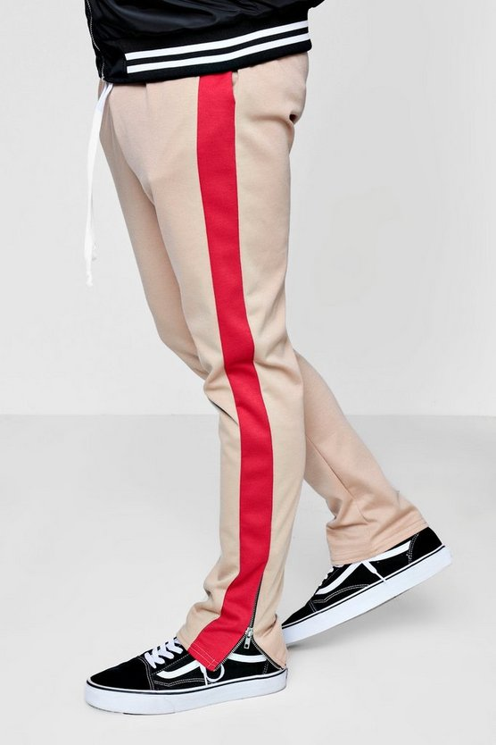 Skinny Fit Panel Jogger With Zip