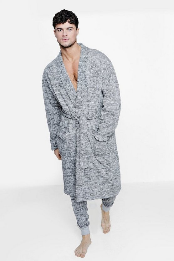 Space Dye Dressing Gown And Jogger Set