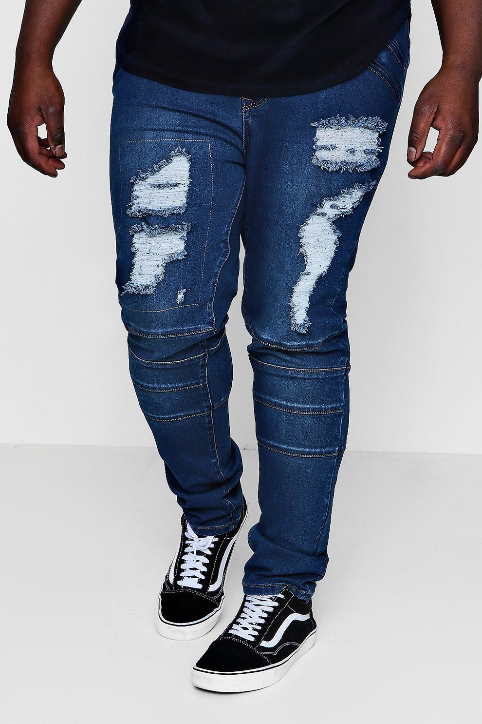 Big and tall skinny fit jeans
