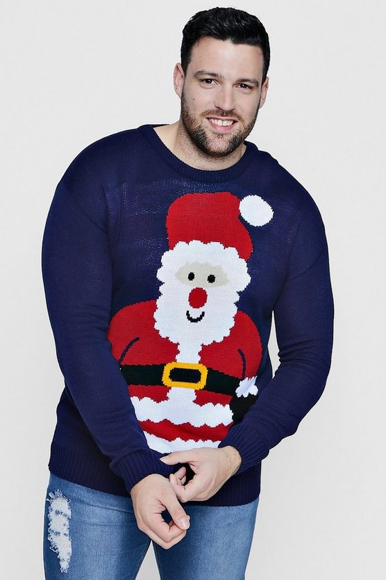 Big And Tall Santa Christmas Jumper