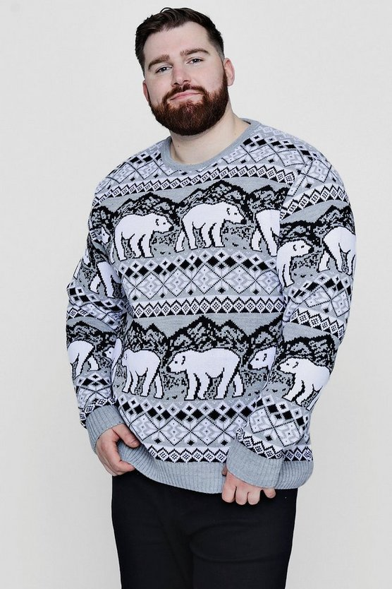 Big And Tall Christmas Polar Bear Jumper